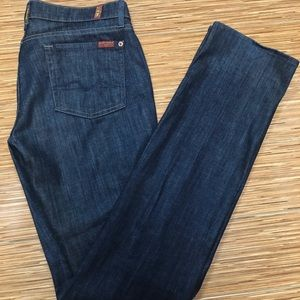 7 for all Mankind Straight Leg ZIP Fly